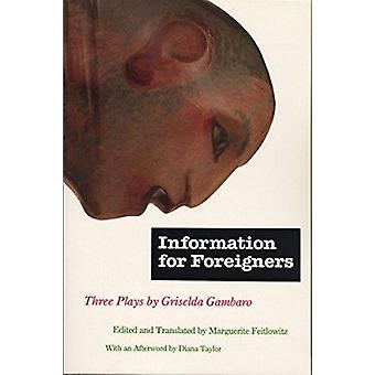 Information for Foreigners - Three Plays by Griselda Gambaro - Marguer