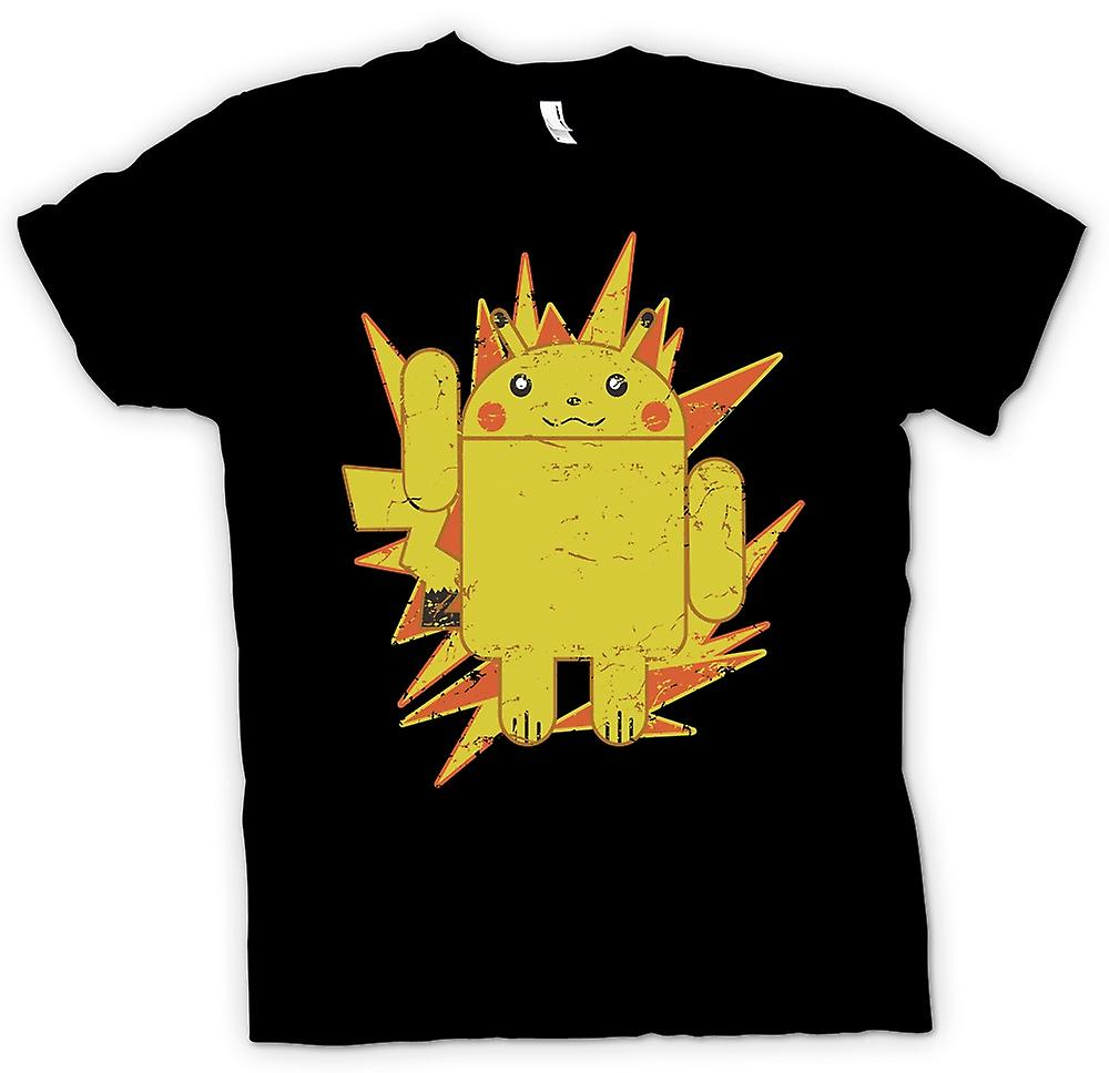 Mens t-shirt - Pikachu Android - Pokemon ispirato