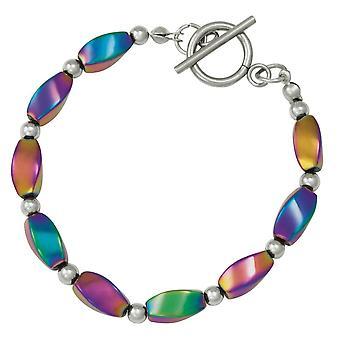 Eternal Collection Fascination Rainbow Hematite Beaded Bracelet