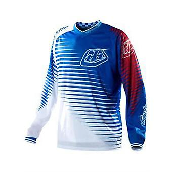 Troy Lee Designs Blue-White 2011 GP Volt Kids MX Jersey