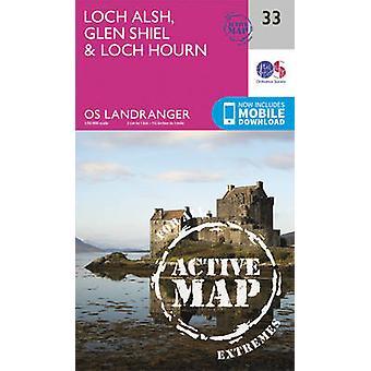 Loch Alsh - Glen Shiel & Loch Hourn (February 2016 ed) by Ordnance Su
