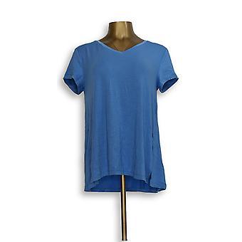 H by Halston Women ' s top Essentials V-hals vooruit blauw A306231