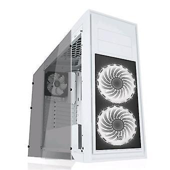 Heek titan 05 custodia avanzata midi-tower ventola da gioco 3x12cm (2 x ventilatori a led rgb) trasparente finestra colore bianco