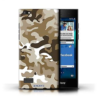 STUFF4 Case/Cover for Blackberry Leap/Brown 1/Camouflage Army Navy