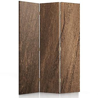 Room Divider, 3 Panels, Double-Sided, 360 ° Rotatable, Canvas, Imitation Cork Trees