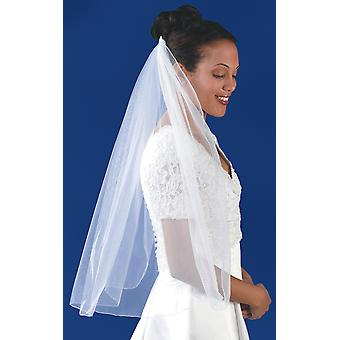 Rolled Edge Single Layer Bridal Veil 31
