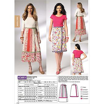 Misses' Skirts  Xs  S  M  L  Xl Pattern K3951