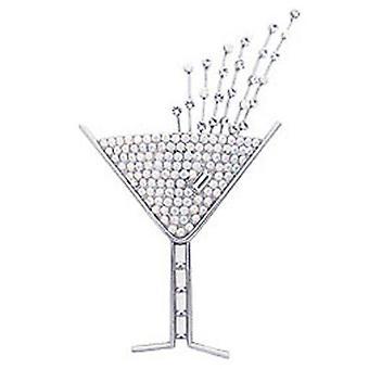 Butler og Wilson store AB og Crystal Champagne glas broche