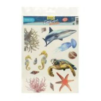 Sandimas Adhesive Decoart Marine Life (Fish , Decoration , Backgrounds)