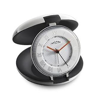 Dalvey Capsule Travel Clock with Black Interior
