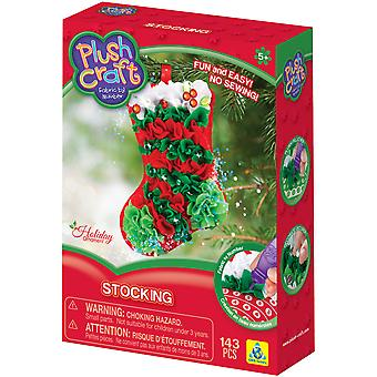 Plush Craft Fabric By Number Ornament Kit-Stocking 75880