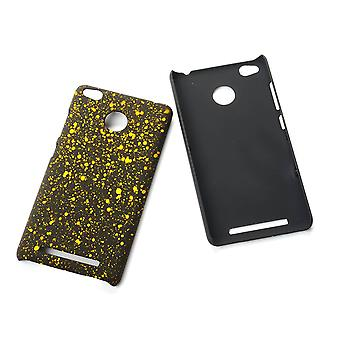 Cell phone cover case bumper shell for Xiaomi Redmi 3 Pro 3D star yellow