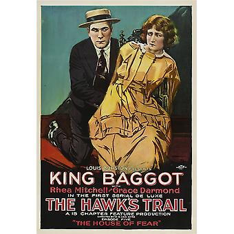 The HawkS Trail Left King Baggot In Episode 5 The House Of Fear 1919 Movie Poster Masterprint
