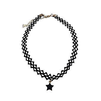 Cool Choker Halskette mit Black Star