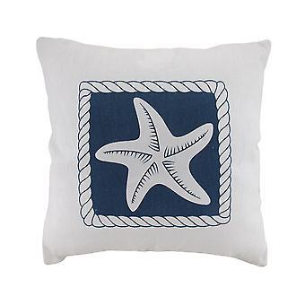 Rozgwiazda biały i niebieski ozdobny płótnie rzucać poduszki