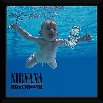 Nirvana-Nevermind indrammet Album Print