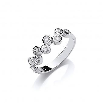 Cavendish French Silver and CZ Bubble Row Ring
