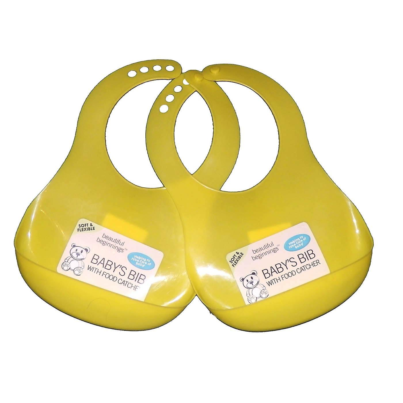 2 x Baby First Soft and Flexible Bib with Food Catcher