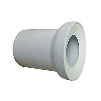White WC Toilet Waste Water Straight Pan Connector Soil Pipe 110mm