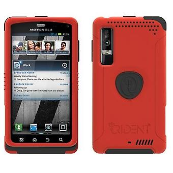 Trident Aegis Case for Motorola Droid 3 XT862 / Milestone 3 XT861 (Red)