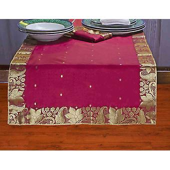 Maroon - Hand Crafted Table Runner (India)