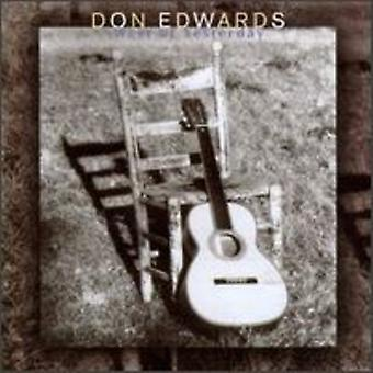 Don Edwards - West of Yesterday [CD] USA import