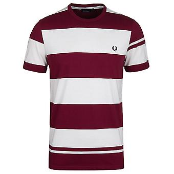 Fred Perry Port Bold Stripe Crew Neck T-Shirt