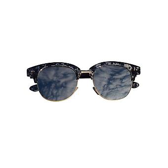 Marble look sunglasses with mirror glass navy