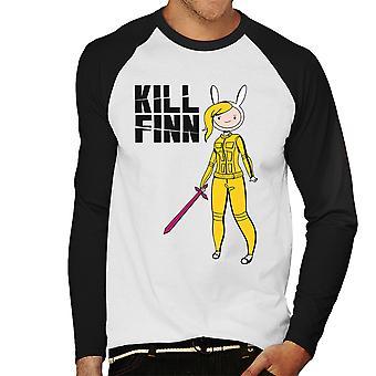 Matar o Baseball Finn aventura tempo Kill Bill masculino t-shirt de mangas compridas
