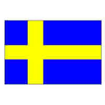 Sweden/Swedish Flag 5ft x 3ft (100% Polyester) With Eyelets