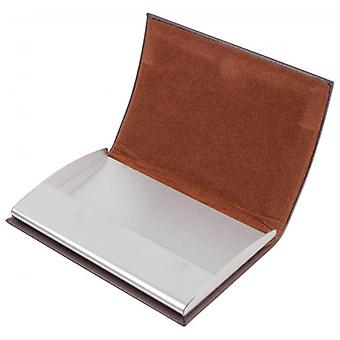 Dalaco Curved Buisness Card Holder - Brown