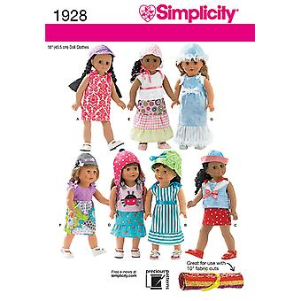 Simplicity Pattern Doll Clothes-ONE SIZE US1928OS