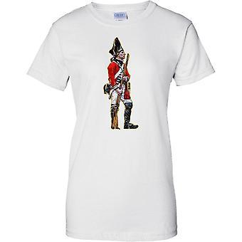 イギリスの兵士 - 赤いコート歩兵 - レディース T シャツ