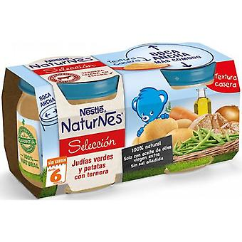 Nestlé Mashed Green Beans and Potatoes with Veal 2x200 gr (Childhood , Food , Pots)