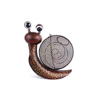 29CM METAL SNAIL BIRD FEEDER HOUSE GARDEN SEED FRUIT NUTS HANGING DECORATION