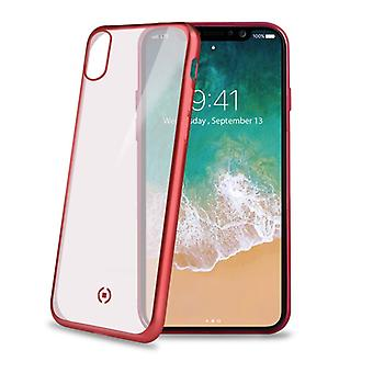 Celly Laser Matte Cover iPhone X Red
