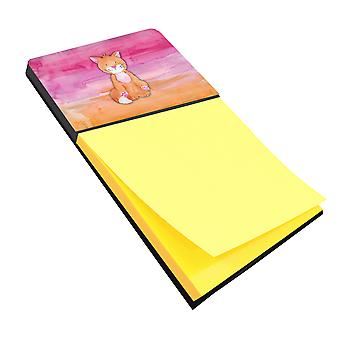 Carolines Treasures  BB7354SN Orange Cat Watercolor Sticky Note Holder