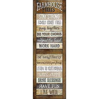 Farmhouse Rules Shutter Poster Print by Marla Rae (12 x 36)
