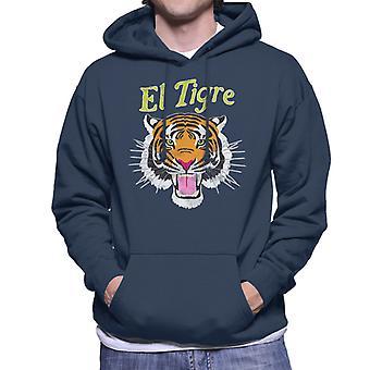 El Tigre Tiger Shirt Men's Hooded Sweatshirt