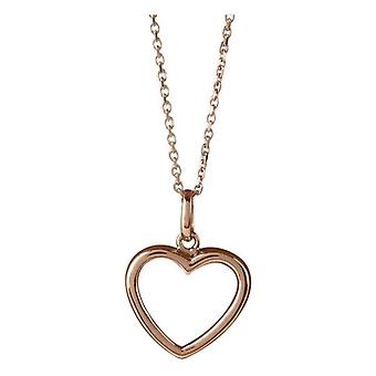 Orton Ouest Heart Shaped pendentif - or Rose
