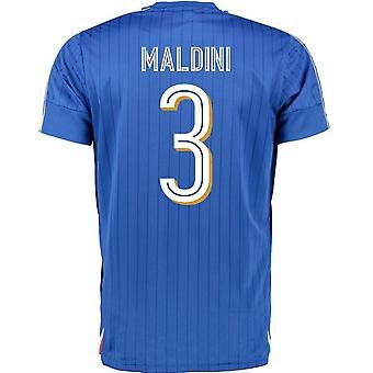2016-2017 Italia Puma hjem skjorte (Maldini 3) - barn