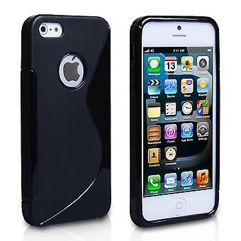 Yousave Zubehör-Iphone 5 und 5 s S-Line Gel Case - schwarz