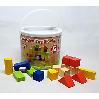 2-Play wooden stacking blocks