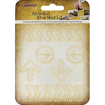 ScrapBerry's Around The World Curls Embellishments-#1 Gold Pearl Arrows 25001064