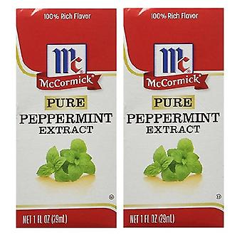McCormick Pure Peppermint Extract 2 Bottle Pack