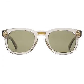 Gucci Vintage Keyhole Square Sunglasses In Clear Brown