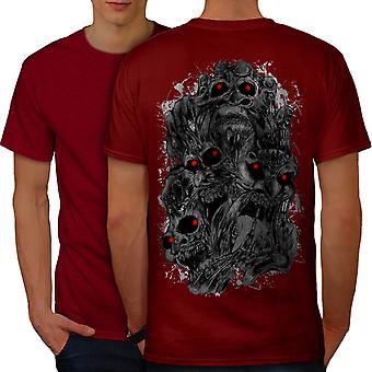 Scary Demon Beast Skull Men RedT-shirt Back | Wellcoda
