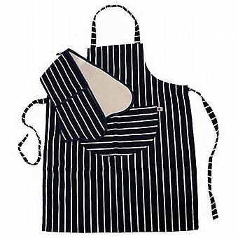 C'est Ca! Classic Butchers Stripe Oven Glove & Apron from Caraselle
