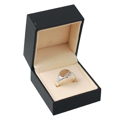 Silver 12x9mm ladies engraved oval Signet ring