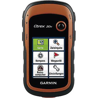 Outdoor GPS Cycling, Geocaching Garmin eTrex 20x Western Europe GLONASS, GPS, sprayproof